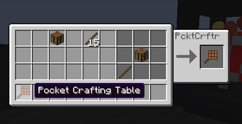 Pocket Crafting Table Feed The Beast Wiki Fandom