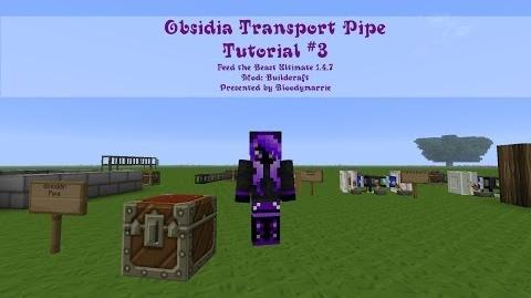 Minecraft FTB Obsidian Transport Pipe Tutorial 3 (German Deutsch)