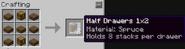 Half drawer 1x2