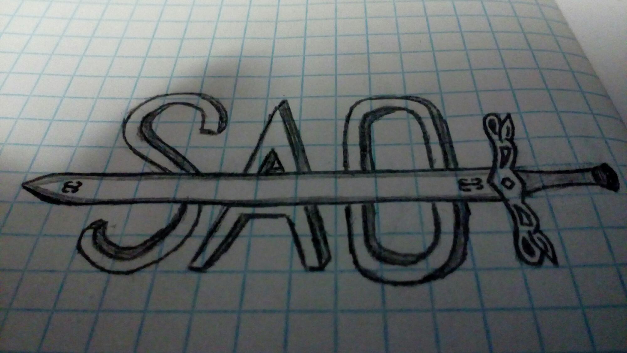 Myślałem co narysować i wyszło mi to:.                                                         Co o tym sądzicie fani SAO?