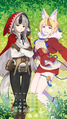 Calendar Selkie, Velouria (Kitsune and Wolfskin).png