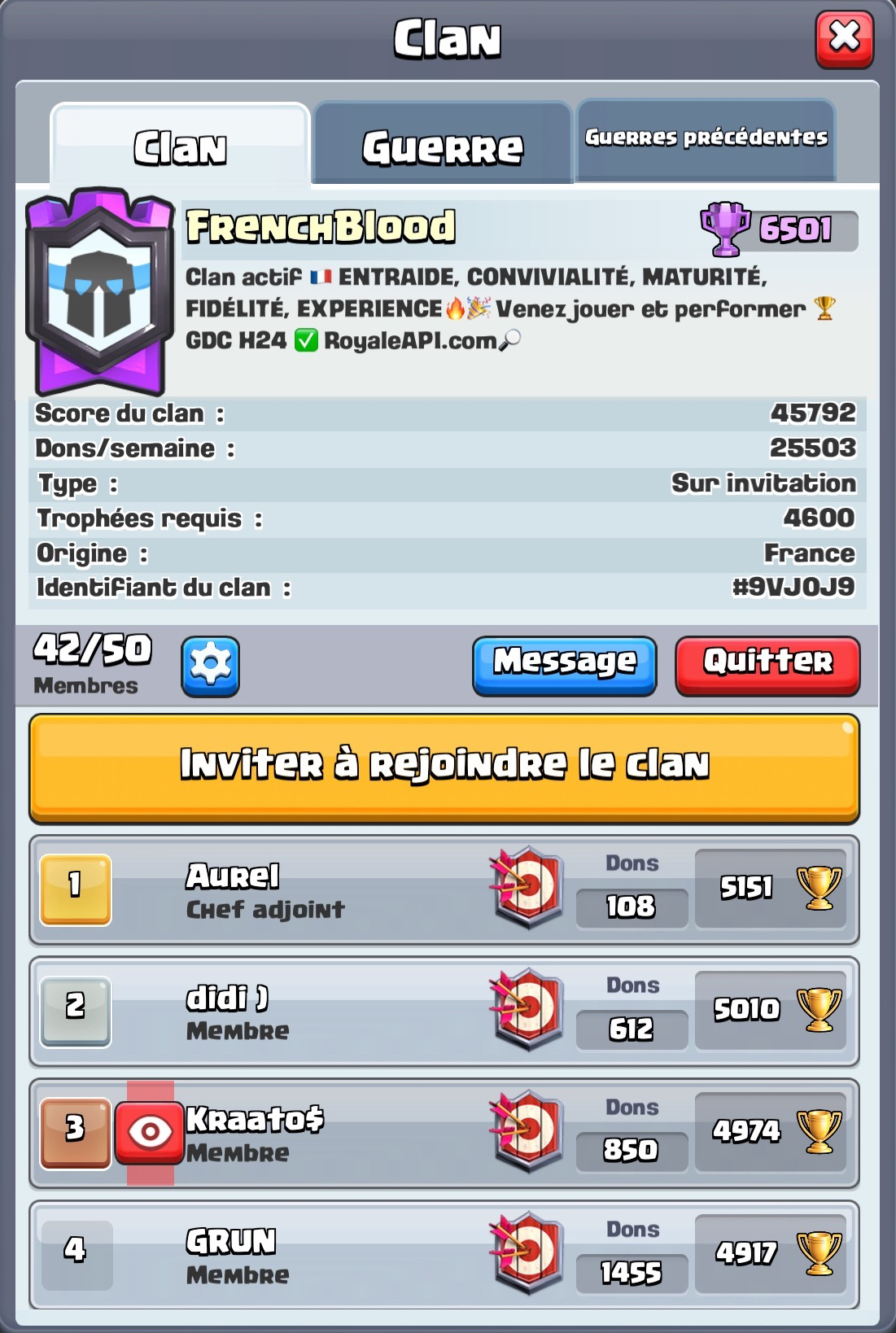 FrenchBlood : Haut niveau, Top 200 Ladder & GDC
