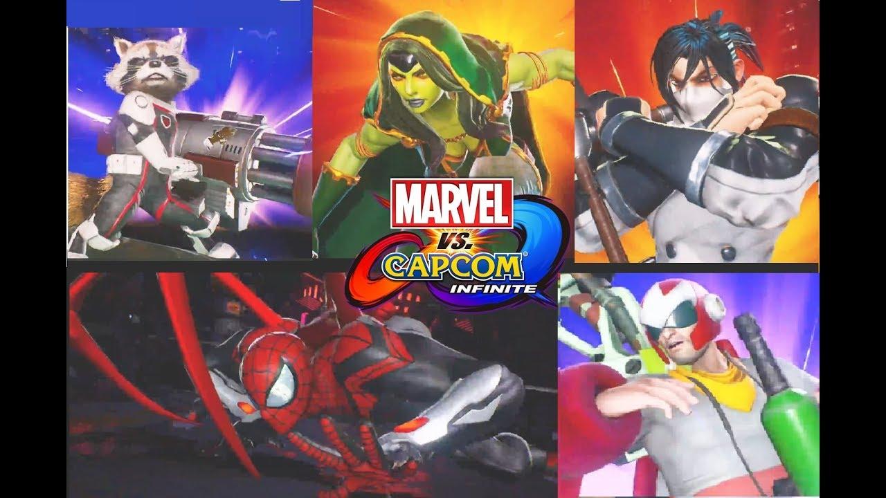 Marvel vs. Capcom- Infinite - ALL Costume Pack Stone Seekers ,Cosmic Crusaders