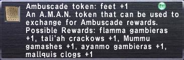 Ambuscade Token: Feet +1