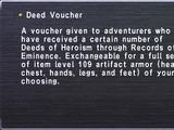 Deed Voucher