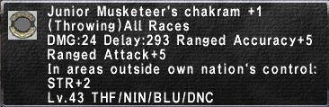 Junior Musketeer's Chakram +1