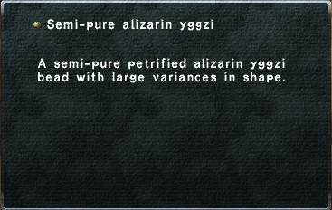 Semi-pure alizarin yggzi