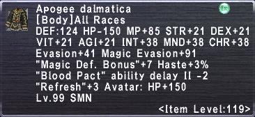 Apogee Dalmatica