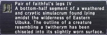 Faithful's Legs IV