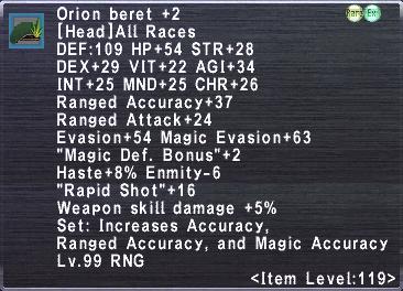 Orion Beret +2