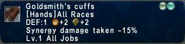 Goldsmith's Cuffs