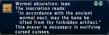 Wyrmal Abjuration: Legs