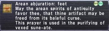 Arean Abjuration: Feet