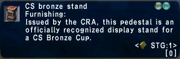 CS Bronze Stand