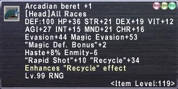 Arcadian Beret +1