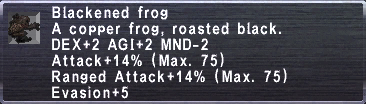 Blackened Frog