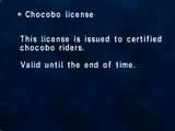 Chocobo License