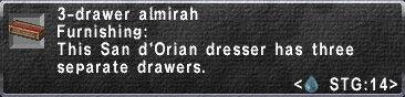 3-Drawer Almirah