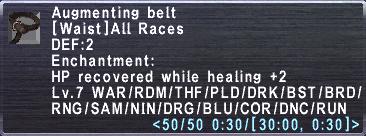 Augmenting Belt