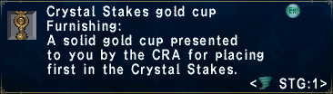 Crystal Stakes Gold Cup