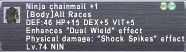 Ninja Chainmail +1