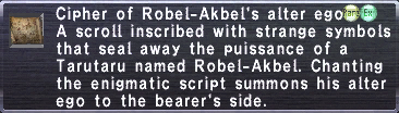 Cipher: Robel-Akbel