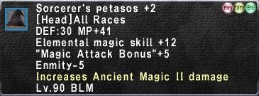 Sorcerer's Petasos (Augmented) +2