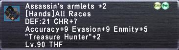 Assassin's Armlets +2