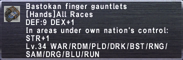 Bastokan Finger Gauntlets