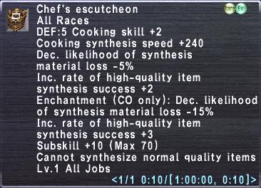 Chef's Escutcheon