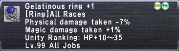 Gelatinous Ring +1