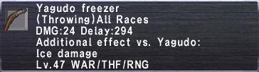 Yagudo Freezer