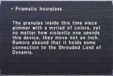 Prismatic hourglass