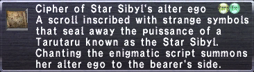 Cipher: Star Sibyl