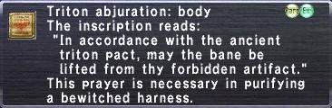Triton Abjuration: Body