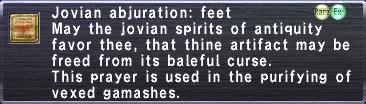 Jovian Abjuration: Feet