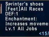 Sprinter's Shoes