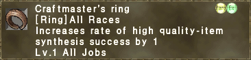 Craftmaster's Ring