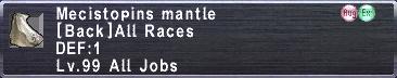 Mecistopins Mantle