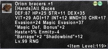 Orion Bracers +1