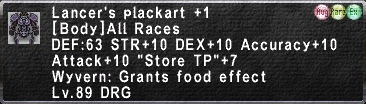 Lancer's Plackart +1