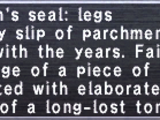 Navarch's Seal: Legs
