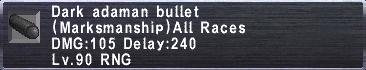 Dark Adaman Bullet