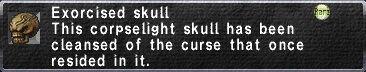 Exercised Skull