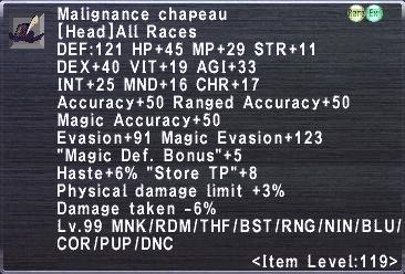 Malignance Chapeau