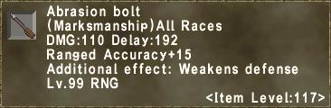 Abrasion Bolt