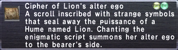 Cipher: Lion