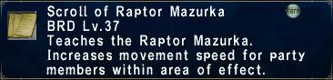 Raptor Mazurka