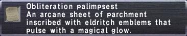 Obliteration Palimpsest