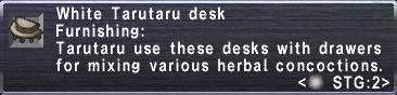White Tarutaru Desk